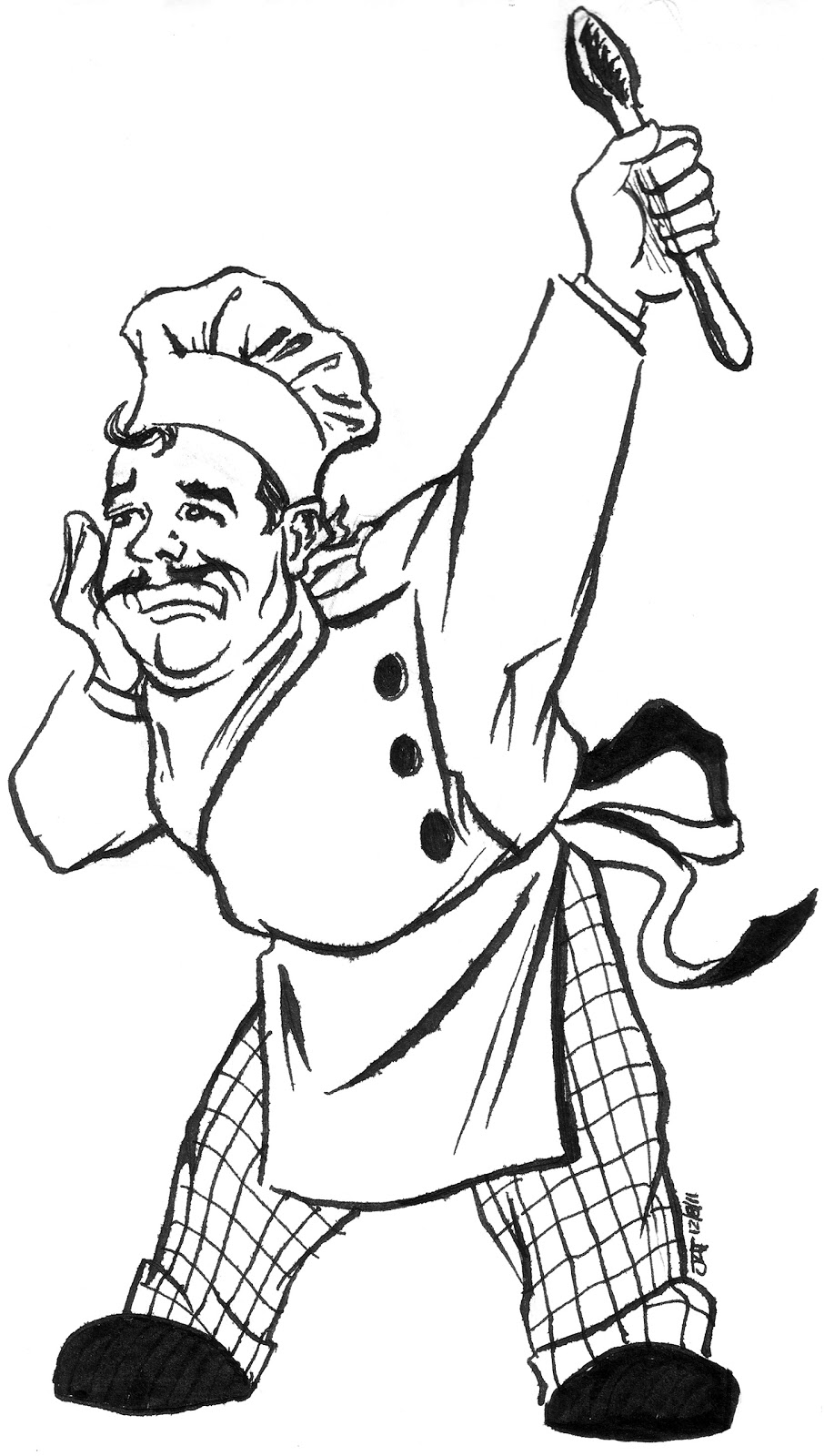 A Touch of Jeff: Character Sketch: Chef