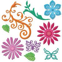 Spellbinders Jewel Flowers and Flourishes