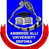 AAU, Ekpoma 2017/18 UTME/DE Admission Screening Form- [Cutoff Mark: 160]