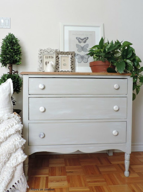 DIY painted dresser before and after