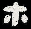 カタカナのペンキ文字「ホ」