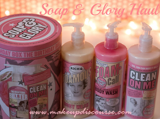 Soap & Glory The Birthday Box, Clean on Me Body Wash, Foam Call Body Wash, Rich & Foamous Body Wash