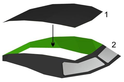 Step 1 in Batmobile paper model build instruction