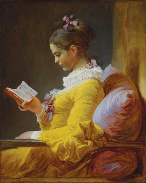 A Jovem Leitora, pintura de Jean-Honoré Fragonard. #PraCegoVer