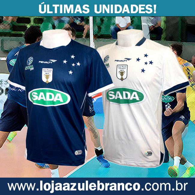 05dcd46483 A Loja Azul e Branco - www.lojaazulebranco.com.br - está disponibilizando  as últimas unidades da Camisa de Vôlei do Cruzeiro Sada.