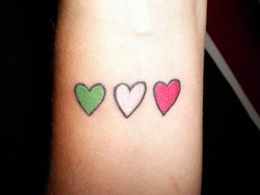 Colorido Coração Tatuagens no Pulso