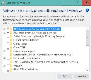 funzioni facoltative Windows 10