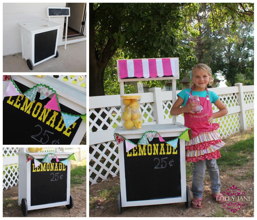 Diy lemonade stand for Cool lemonade stand ideas