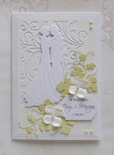 Prosta ślubna kartka
