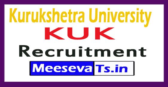 Kurukshetra University KUK Recruitment