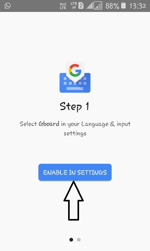 Gboard the default keyboard app
