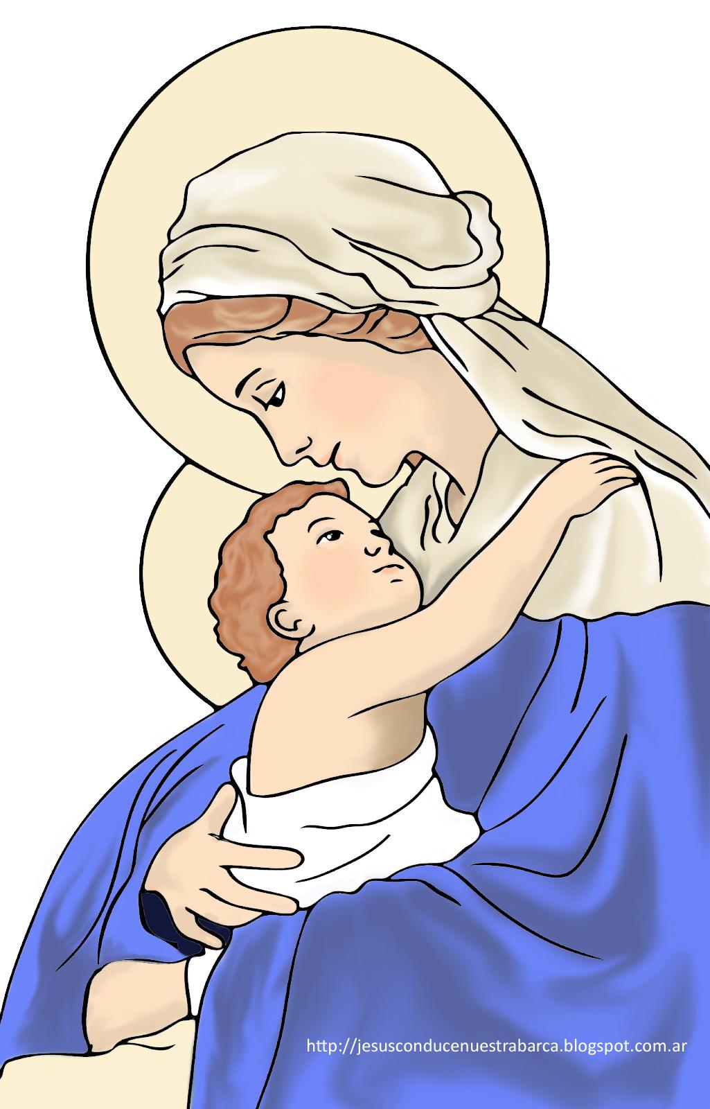 Jesús Conduce Nuestra Barca Dibujos Virgen María