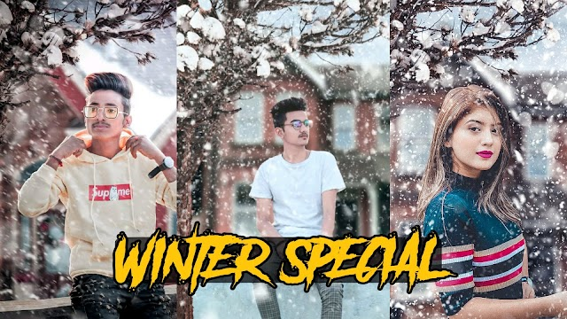 WINTER PHOTO EDITING TUTORIAL BACKGROUND DOWNLOAD 2020