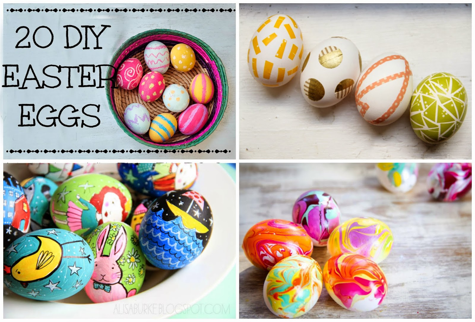 Little Treasures 20 Diy Easter Eggs