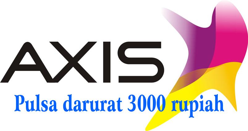 Pulsa axis, pulsa darurat 3000 rupiah, minta pulsa ke operator Axis