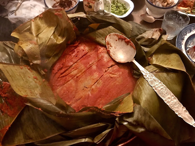 a zacahuil, giant tamale