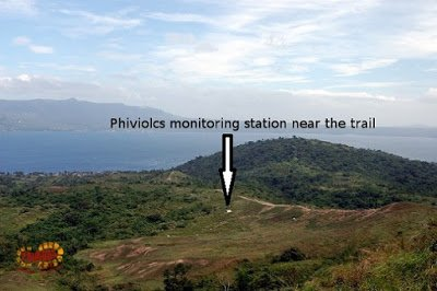monitoring station near the regular trail