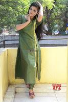 Akshitha cute beauty in Green Salwar at Satya Gang Movie Audio Success meet ~  Exclusive Galleries 036.jpg