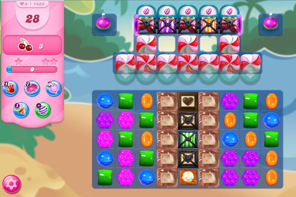 Candy Crush Saga level 7483
