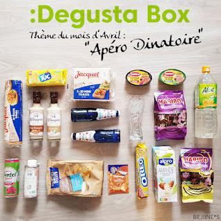 Unboxing DegustaBox d'Avril apéro dinatoire