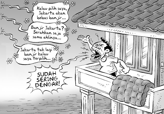 Banjir Jakarta dan Buah Semburan Dusta