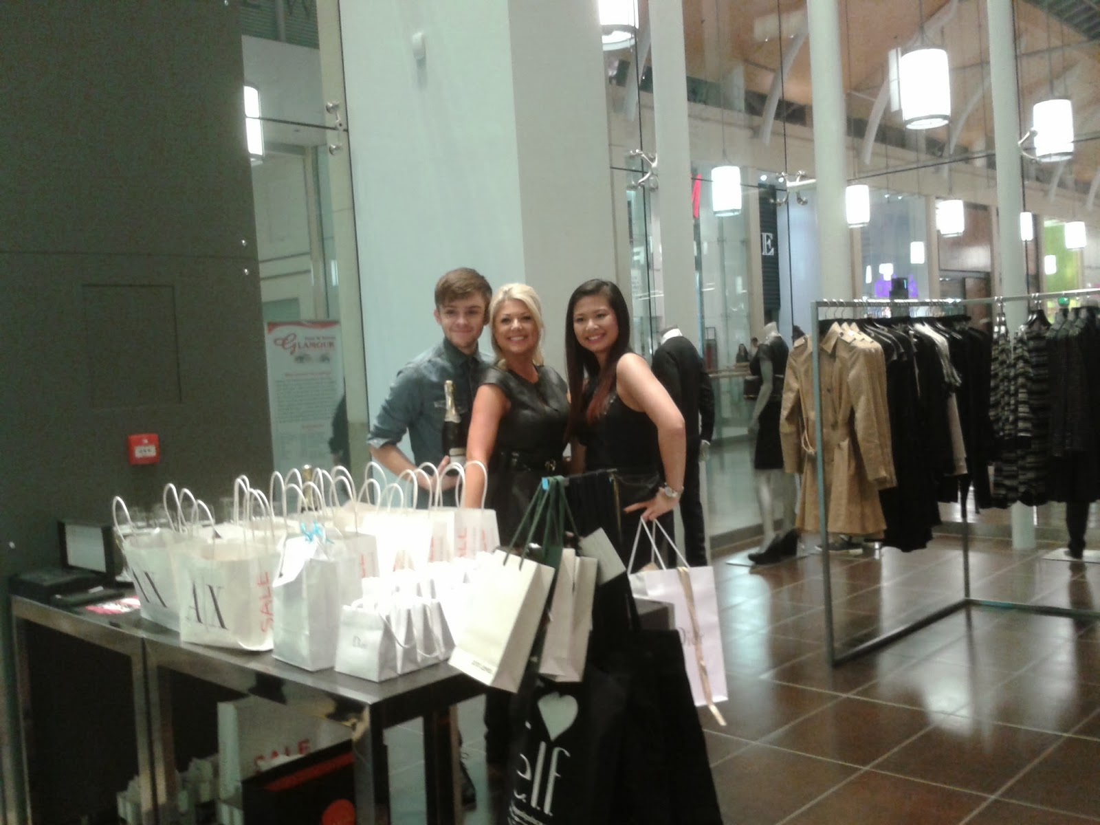 AX Armani Exchange Cardiff, St David's 2, Designer shops Cardiff, Press Events Cardiff