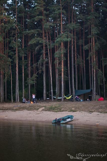 namiot, camping, wakacje dzieci podlasie