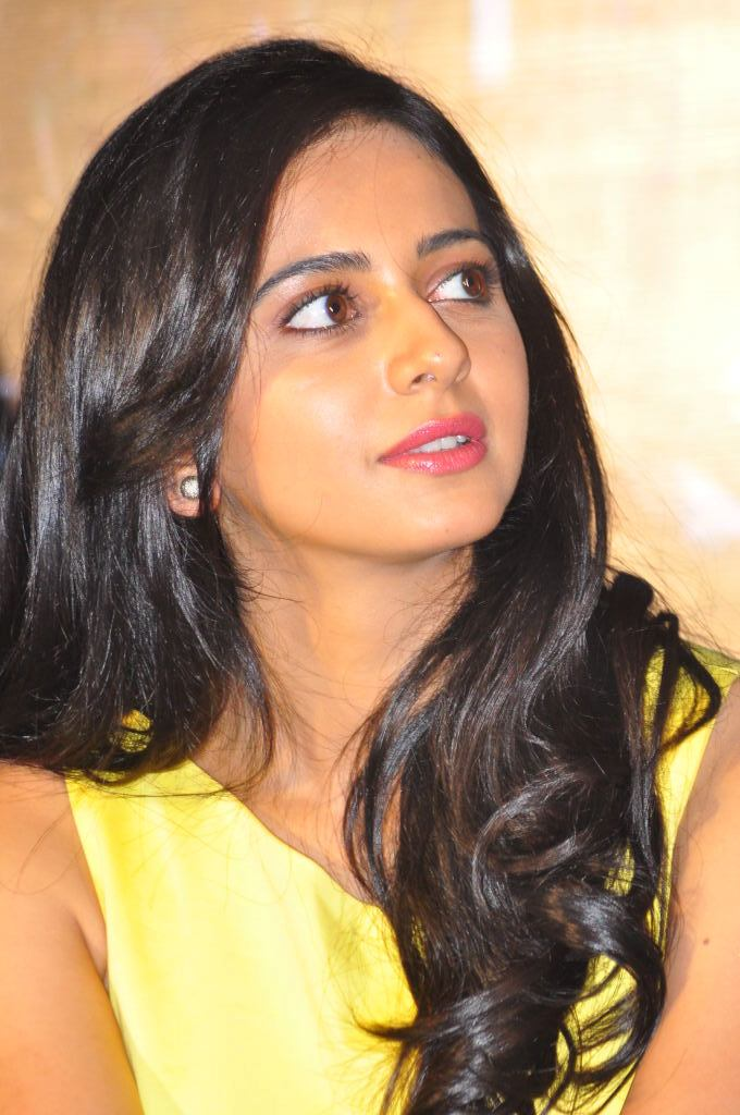 Rakul Preet Photos In Yellow Dress