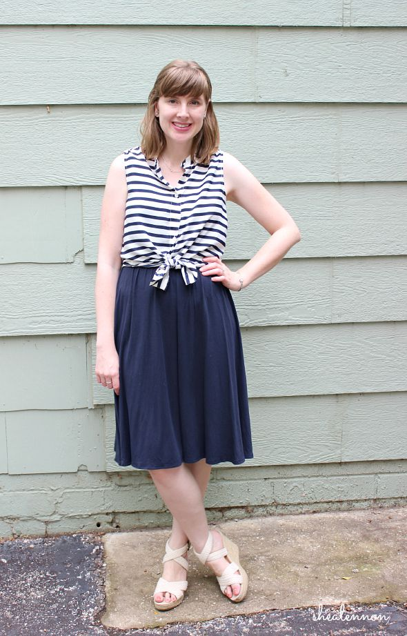 4b26d0c8ac4 Shea Lennon  Summer Dress Remix  Knotted Stripes for the Office