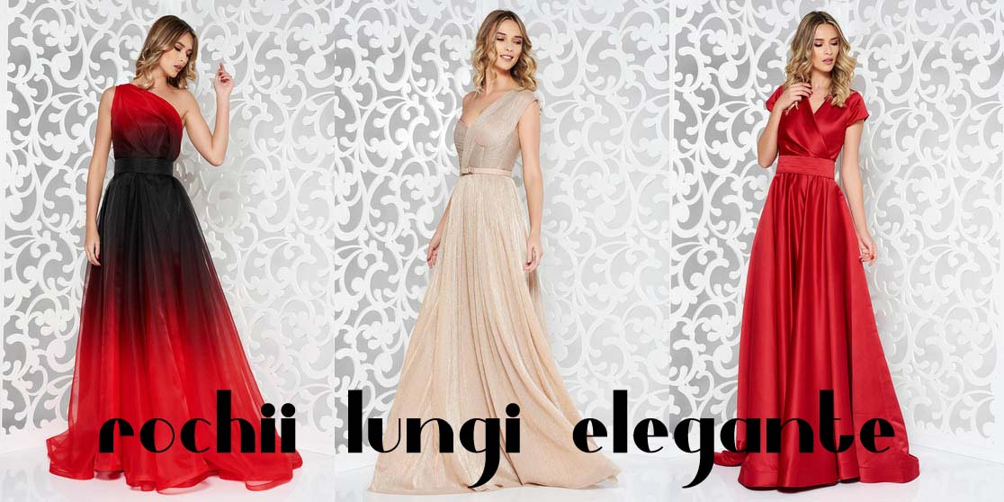 Rochii lungi elegante la moda ieftine de seara si ocazii speciale