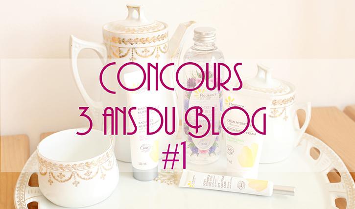 Le blog souffle sa 3e bougie! [Concours Fleurance]