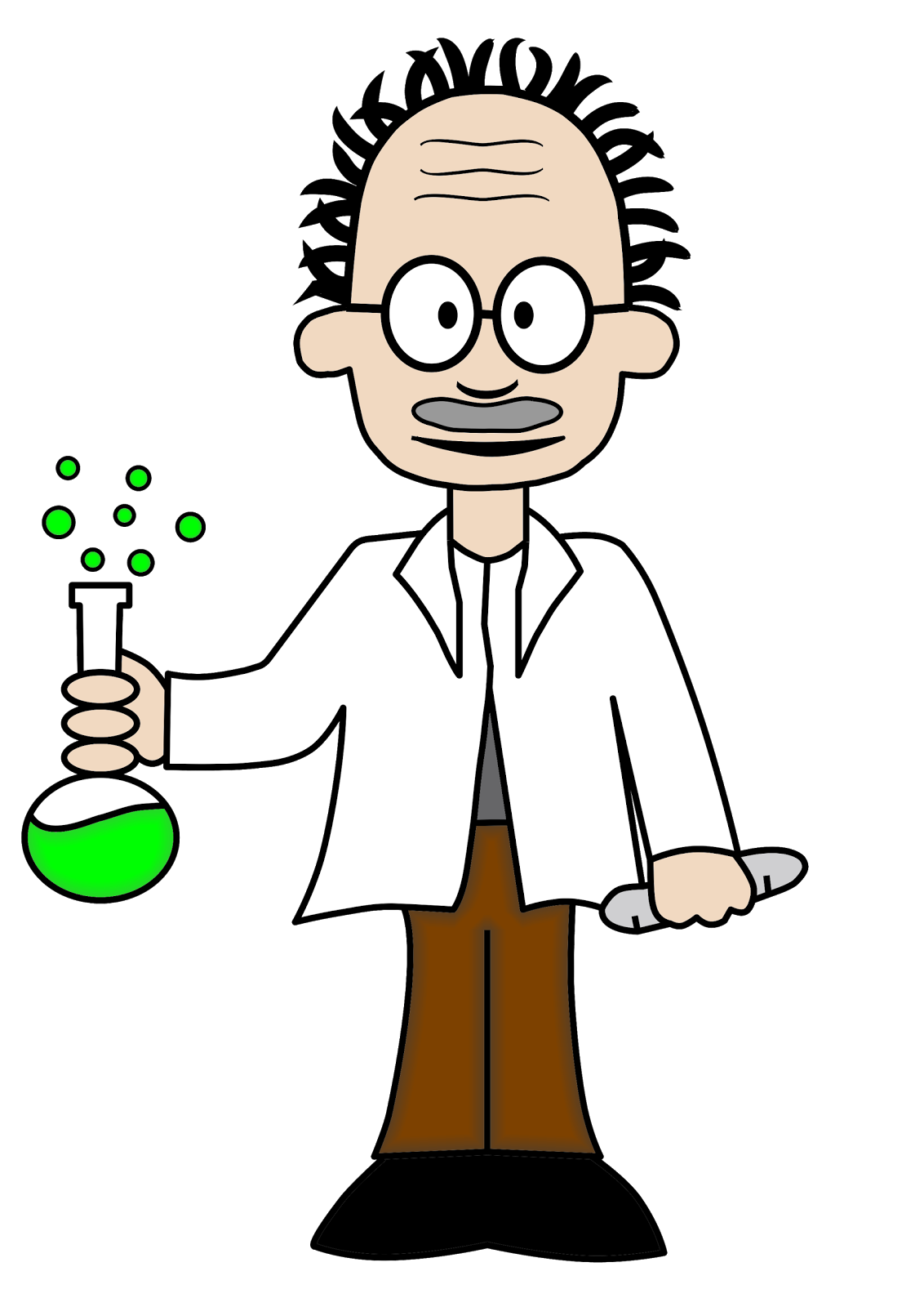 How to draw scientist cartoon