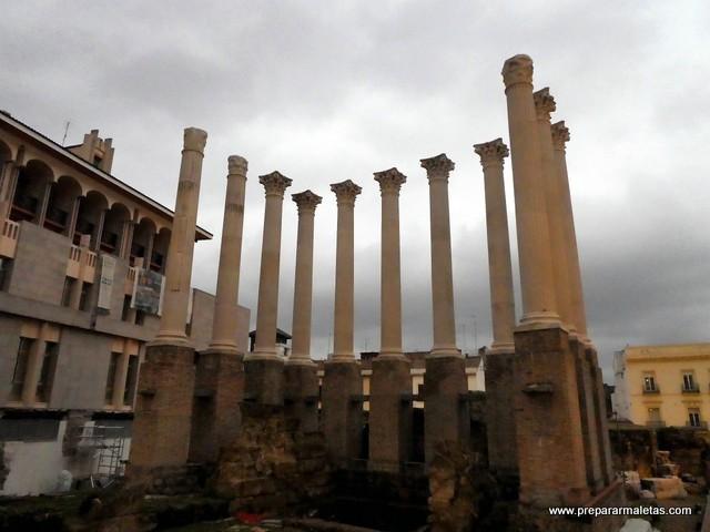 restos de templo romano en Córdoba