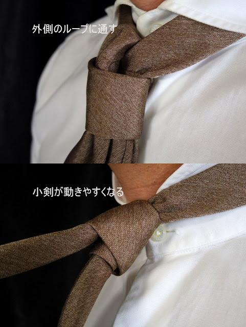 ネクタイ 小剣ずらし