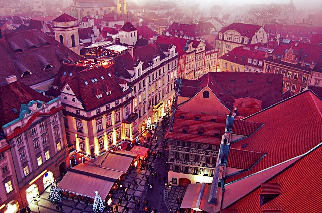 Закат в Праге