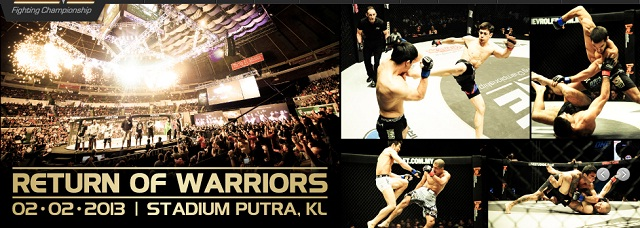 The promotional Poster for One Fighting Championship: Return Of Warriors 2013