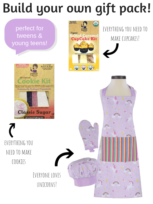 Need Christmas gift ideas for the girl obsessed with learning how to bake? These creative gifts for tween and young teen girls will help them bake cookies, make organic cupcakes and more! Perfect for tweens and teens who love being creative and want to learn to bake. #creativegreenchristmas #creativegreenliving #tweens #youngteens #tweengifts #teengifts #christmasgiftideas #giftguide #baking #giftsforbakers #preteengiftideas #creativegiftideas