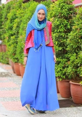 Model Blazer Batik Dian Pelangi Terbaru Gamis