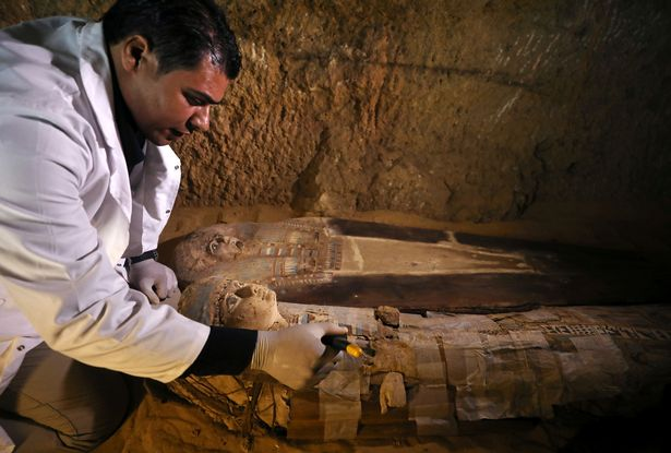 Archaeologifts shifted huge swathes of sands to get to the ancient tomb site