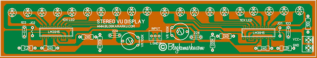 lm3915 vu meter circuit stereo