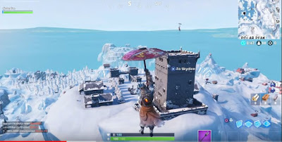 Castle Tower, Polar Peak, Snowfall Prisoner Skin, Stage 2, Fortnite