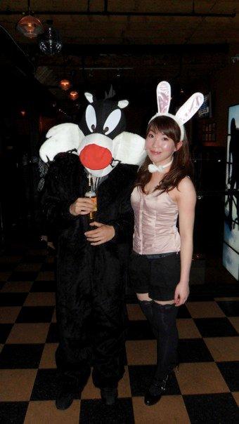 DIY playboy bunny for halloween