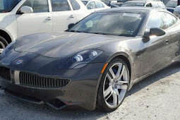 This flood-damaged Fisker karma is only begging for a motor swap