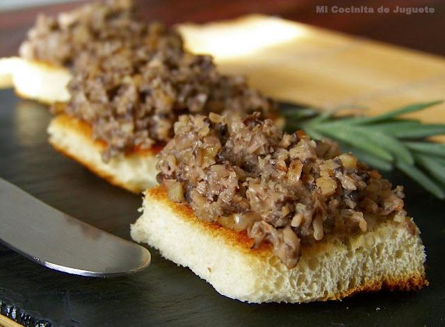 Paté de Champiñones y Nueces
