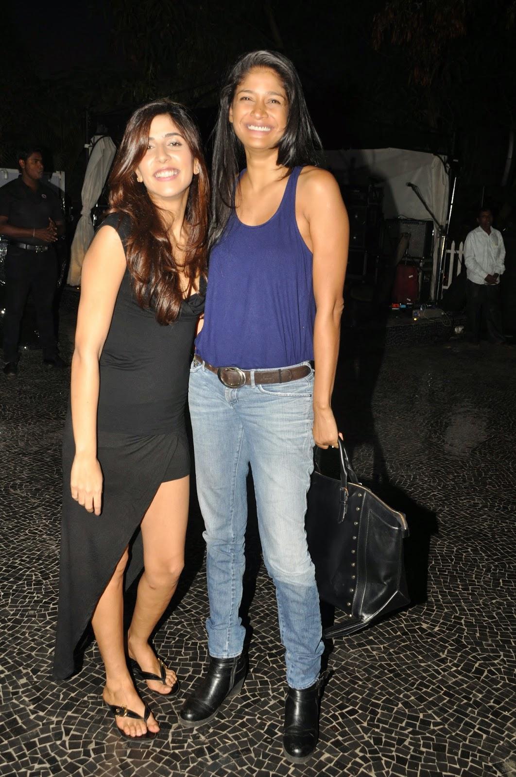 Model Carol Gracias with designer Simone Khambatta