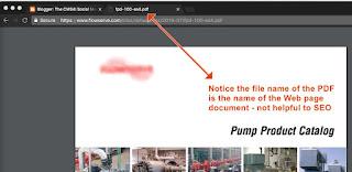 Bad Web PDF SEO