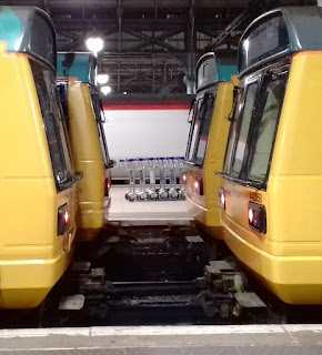 Pacer Railbus trains at Manchester Piccadilly