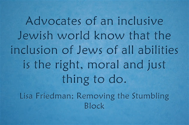 Inclusion is the right thing to do; Removing the Stumbling Block
