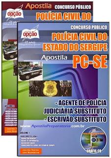 apostila concurso Polícia Civil SE para Agente de Polícia Judiciária Substituto