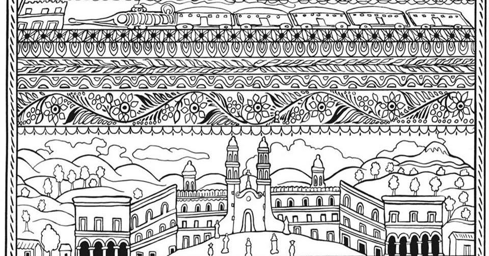 Mexican Art Mandala Coloring Pages Mexico Mandalas